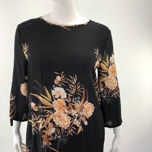 Dresses - Mini Floral Casual Vintage Tie 3XL A-Line Dress